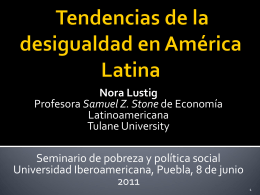 Nora Lustig - Universidad Iberoamericana Puebla