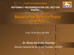 Situación del Servicio Postal en el Perú - pits-bi-real-time