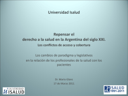 Dr. Mario Glanc - Universidad ISALUD
