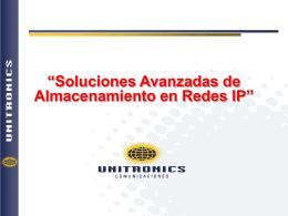 Soluciones Avanzadas de almacenamiento en redes IP