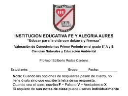 INSTITUCION EDUCATIVA FE Y ALEGRIA AURES