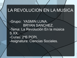 La revolución en la música en el siglo XX