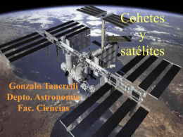 Cohetes y Satelites artificiales