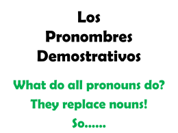 Apuntes Demonstrative Pronouns