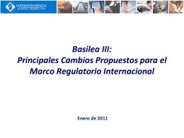 Basilea III Principales Cambios Propuestos Pilar I