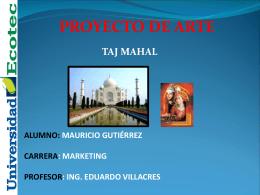 Proceso constructivo TAJ MAHAL