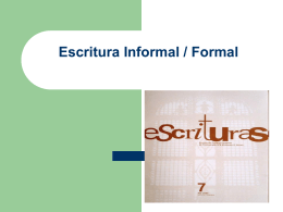 Escritura Informal / Forma