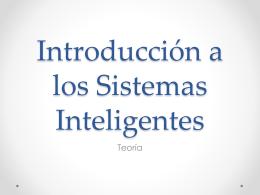 Introducción a los Sistemas Inteligentes
