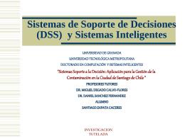 Sistemas para la Toma de Decisiones y Sistemas Inteligentes