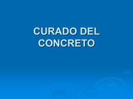 CURADO DEL CONCRETO