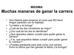 maxima 13 sep LA LIEBRE Y LA TORTUGA