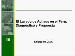 PRINCIPALES TIPOLOGÍAS DEL LAVADO DE