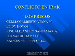 Conflicto en Irak - Universidad de Antioquia
