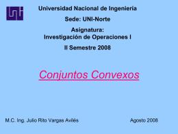 Conjuntos Convexos - MSc. Ing. Julio Rito Vargas Avilés