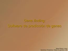 La predicción de genes