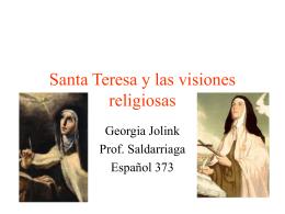 Santa Teresa y las visiones religiosas