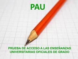 prueba de acceso a las enseñanzas universitarias oficiales de grado
