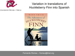Variation in translations of Huckleberry Finn into Spanish
