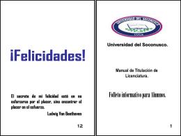 Opción de Titulación - Universidad del Soconusco