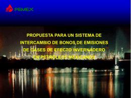 PROPUESTA PARA UN SISTEMA DE INTERCAMBIO DE BONOS