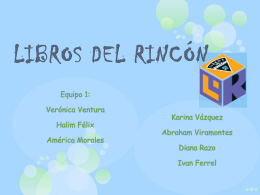 LIBROS DEL RINCON