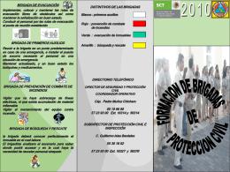 formacion de brigadas de proteccion civil 2010