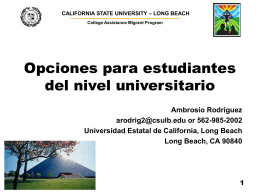 2 a 3 años - California State University, Long Beach