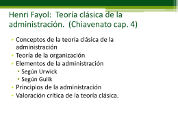 Henri Fayol: Teoría clásica de la administración