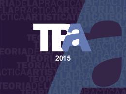 TPA2015_Clase-inaugural - Facultad de Bellas Artes