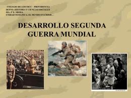 Desarrollo Segunda Guerra Mundial