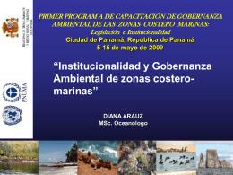 Institucionalidad y Gobernanza Ambiental de zonas costero