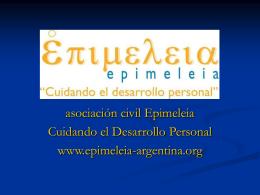 Epimeleia Cuidando el Desarrollo Personal