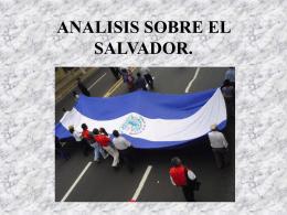 ANALISIS SOBRE EL SALVADOR.
