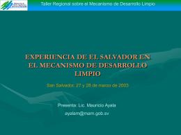 Experiencias de El Salvador en MDL