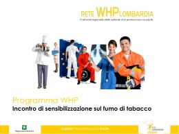 SLIDES PER INCONTRO DI SENSIBILIZZAZIONE SUL FUMO
