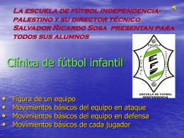 Clínica de fútbol infantil