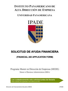 Formato de Solicitud de Financiamiento - MBA