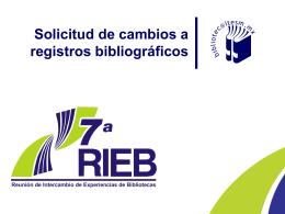 Solicitud de cambios a registros bibliográficos