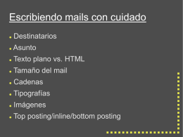diapos sobre mail