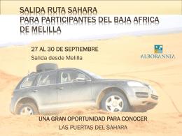RUTA VW TOUAREG - Club Melilla 4x4