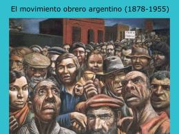 Historia MovObrero Argentino (1857-1955)