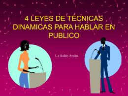 4 leyes de técnicas dinamicas para hablar en
