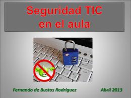 Seguridad TIC dentro y fuera del aula (en
