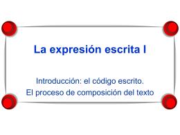 Expresión escrita I