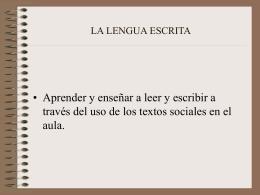 LA LENGUA ESCRITA-facultad psicología