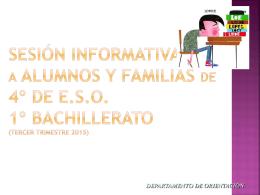 charla orientacion familias 4º eso y 1º bachillerato