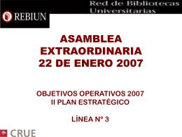 ASAMBLEA EXTRAORDINARIA 22 DE ENERO 2007