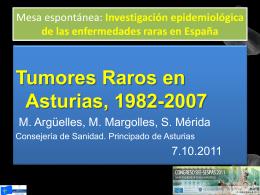 Tumores raros powerpoint - Gobierno del principado de Asturias