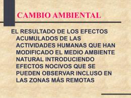 Contaminación Química Ambiental