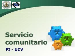 Servicio comunitario-Presentación fuente original